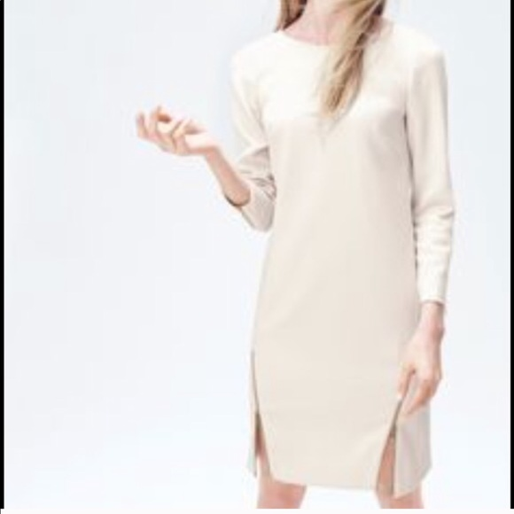 947e7c1b825 J. Crew Dresses   Skirts - J. Crew Double Zip Shift Dress In Ivory